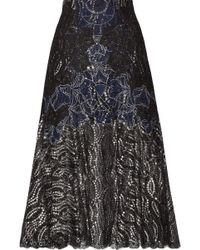 Jonathan Simkhai - Metallic Tulle-trimmed Lace Skirt - Lyst