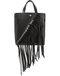 Proenza Schouler - Hex Small Fringed Paneled Leather Tote - Lyst