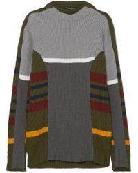 Y. Project - Striped Wool-blend Dress - Lyst