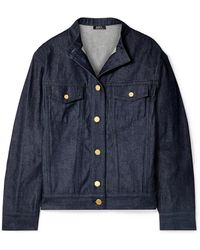 A.P.C. - Bailey Oversized Denim Jacket - Lyst