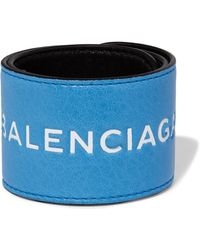 Balenciaga | Cycle Textured-leather Cuff | Lyst