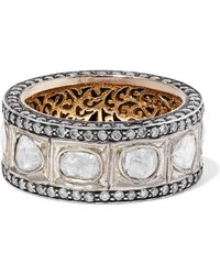 Amrapali - 14-karat Gold And Sterling Silver Diamond Ring - Lyst