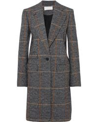 Chloé - Checked Houndstooth Woven Coat - Lyst