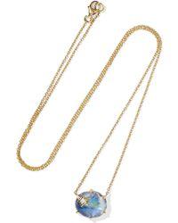 Andrea Fohrman - Mini Galaxy Star 18-karat Gold Multi-stone Necklace - Lyst