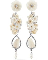 Of Rare Origin - Nesters White Vermeil Multi-stone Earrings - Lyst