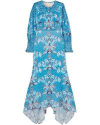 Peter Pilotto - Floral-print Stretch Hammered-silk Midi Dress - Lyst