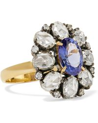 Amrapali - 18-karat Gold, Sterling Silver, Diamond And Tanzanite Ring - Lyst