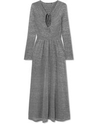 ALEXACHUNG - Metallic Stretch-knit Maxi Dress - Lyst