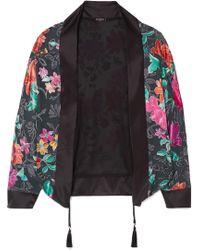 Etro - Floral-print Burnout-chiffon Jacket - Lyst