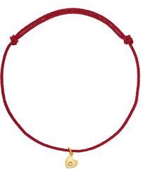 Marie-hélène De Taillac - Precious Heart 22-karat Gold, Cord And Diamond Bracelet - Lyst