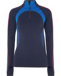 LNDR - Downhill Racer Panelled Stretch-knit Top - Lyst