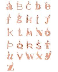 Monica Vinader - A-z Alphabet Letter Rose Gold Vermeil Pendants - Lyst