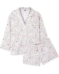 Sleepy Jones - Marina And Paloma Printed Cotton-poplin Pajama Set - Lyst