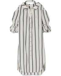 Rejina Pyo - Amber Striped Cotton And Linen-blend Shirt Dress - Lyst
