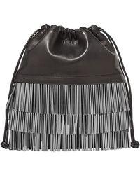 Alexander Wang - Ryan Mini Fringed Leather Bucket Bag - Lyst