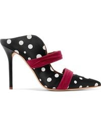 Malone Souliers - + Ungaro Maureen Polka-dot Faille And Satin Mules - Lyst