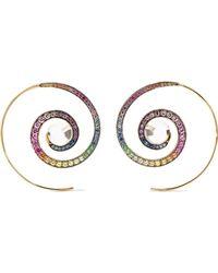 Noor Fares - 18-karat Gray Gold Multi-stone Earrings - Lyst