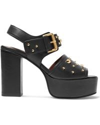 See By Chloé - Studded Leather Platform Sandals - Lyst
