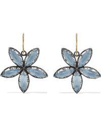 Larkspur & Hawk - Sadie Astra Rhodium-dipped Quartz Earrings - Lyst