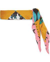 Marni - Printed Silk-twill Scarf - Lyst