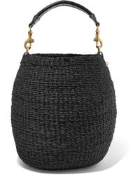 Clare V. - Pot De Miel Leather-trimmed Woven Abaca Straw Tote - Lyst
