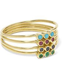 Jennifer Meyer - 18-karat Gold Multi-stone Ring Gold 7 - Lyst