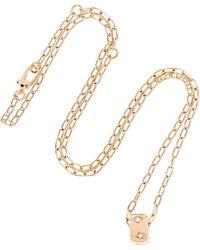 Pomellato - 18-karat Rose Gold Diamond Necklace - Lyst