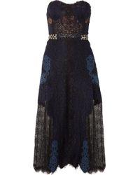 Jonathan Simkhai - Corded And Leavers Lace Midi Dress - Lyst