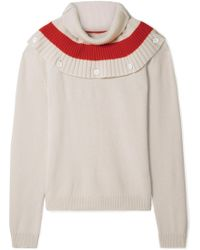Tomas Maier - Convertible Striped Cashmere Sweater - Lyst