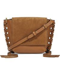 Isabel Marant - Kleny Whipstitched Leather And Suede Shoulder Bag - Lyst