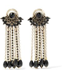 Silk-tulle, Bead And Crystal Clip Earrings - Pink Etro