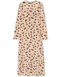 Marni - Floral-print Silk-blend Crepe Maxi Dress - Lyst