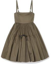 Molly Goddard - Phillipa Cotton-twill Mini Dress - Lyst