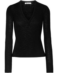 T By Alexander Wang - Ribbed Wool Jumper - Lyst