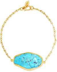 Pippa Small - 18-karat Gold Turquoise Bracelet - Lyst