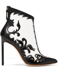Francesco Russo - Embroidered Detail Ankle Boots - Lyst