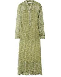 93718f57 Norma Kamali Woman Belted Jersey Maxi Dress Green in Green - Lyst