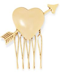 LELET NY - Love Struck Gold-tone Hair Slide - Lyst