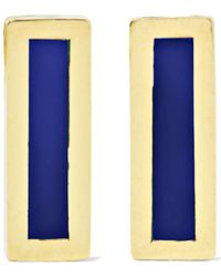 Jennifer Meyer - 18-karat Gold Lapis Lazuli Earrings - Lyst
