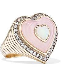 Noor Fares - Anahata 18-karat Grey Gold Multi-stone Ring Gold 7 - Lyst