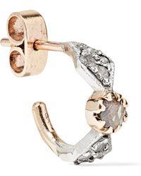 Pascale Monvoisin - Adele N°1 9-karat Gold, Silver And Diamond Earring - Lyst