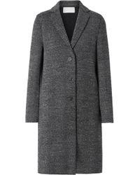 Harris Wharf London - Manteau En Tweed De Laine À Chevrons - Lyst