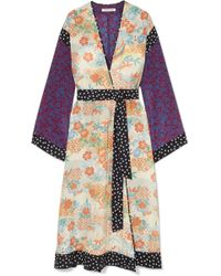 Elizabeth and James - Shawna Printed Silk Kimono - Lyst