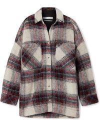 IRO Minksy Oversized Checked Felt Jacket - Multicolour