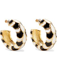 Kenneth Jay Lane - Gold-plated And Enamel Earrings - Lyst