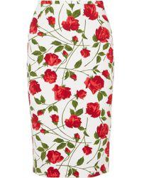 Michael Kors - Floral-print Cady Skirt - Lyst
