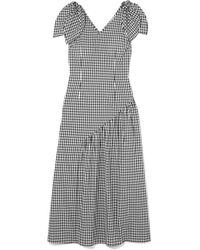 Rejina Pyo | Lily Bow-detailed Gingham Cotton Midi Dress | Lyst