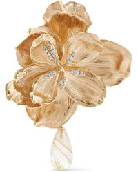 Ole Lynggaard Copenhagen - Wild Rose 18-karat Gold, Diamond And Quartz Clip Earring Gold R - Lyst