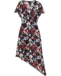 Anna Sui - Birds And Roses Printed Silk-chiffon Dress - Lyst