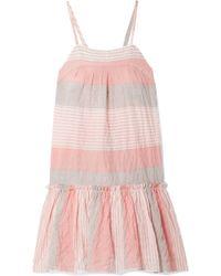 lemlem - Dera Tiered Striped Cotton-blend Gauze Mini Dress - Lyst